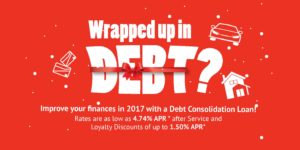 Improve your finances in 2017 with a Debt Consolidation Loan!